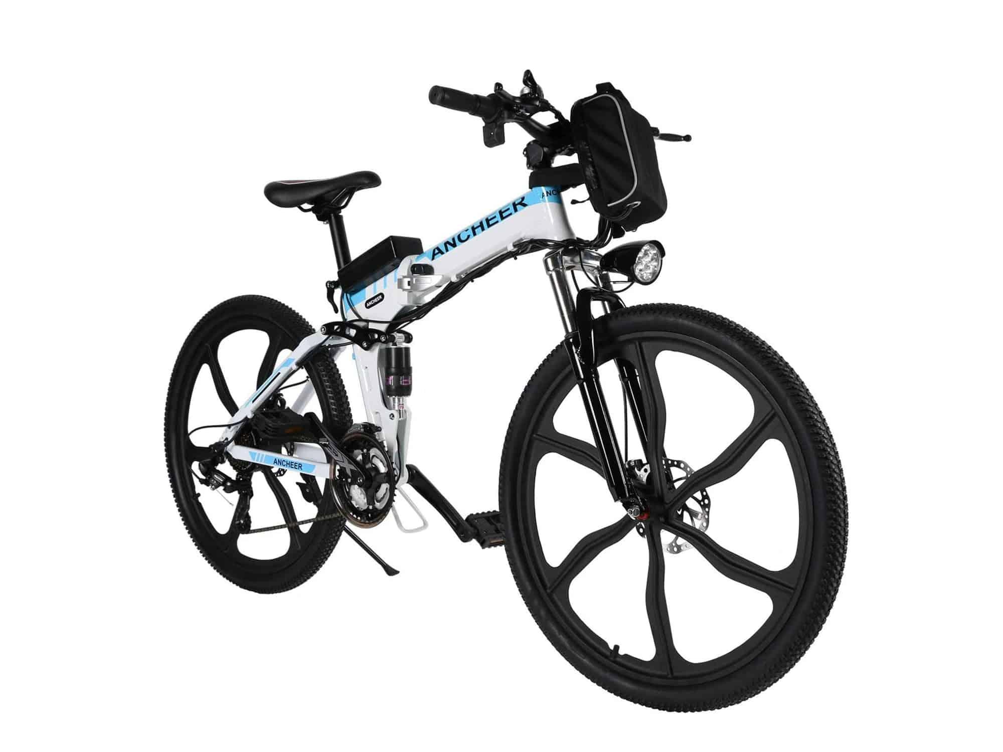 ancheer electric folding mountain bike